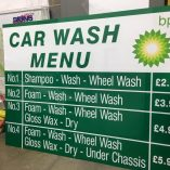 flat panel sign - BP Car Wash