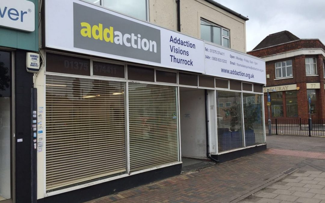 sign frames - Addaction Thurrock