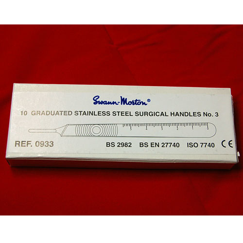 Swann Morton Stainless Steel No. 3 Handle (BOX OF 10)